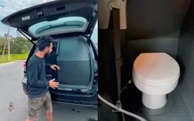 Toyota Fortuner 2021 độ toilet độc nhất thế giới - Nỗi lo 'đau bụng' khi tắc đường đã trở thành quá khứ