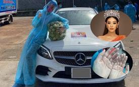 Tự lái Mercedes-Benz đi tiếp sức giữa tâm dịch, Hoa hậu Khánh Vân tiết lộ bàn tay nhăn nheo khiến nhiều người cảm phục