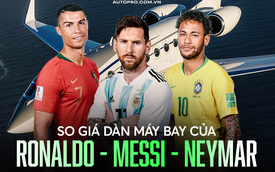 So giá dàn máy bay của Ronaldo - Messi - Neymar: Dàn máy bay của Ronaldo đắt giá nhất, Messi thua 2 đồng nghiệp về cả số lượng và giá tiền