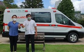 Sau 5 tháng, ông Đoàn Ngọc Hải chính thức nhận xe cứu thương 2,5 tỷ: Tôi rất biết ơn Việt Hương