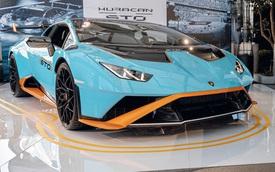 Lamborghini Huracan STO chào hàng đại gia Việt: Giá 23 tỷ đồng, nhiều chi tiết giống siêu xe đường đua