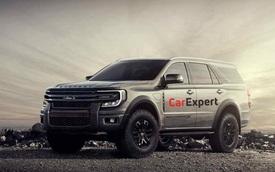 Ford Everest đời mới tiếp tục lộ diện: Khung thân hoàn chỉnh, lộ rõ thiết kế offroad