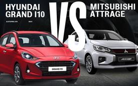 Bằng giá, chọn Hyundai Grand i10 Sedan nhiều công nghệ hay Mitsubishi Attrage rộng rãi