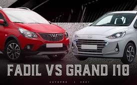 Hyundai Grand i10 2021 vs VinFast Fadil: Xe Hàn đua option với xe Việt