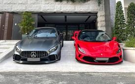 Rảnh rỗi mùa dịch, doanh nhân Nguyễn Quốc Cường mang siêu xe Ferrari F8 Tributo và Mercedes-AMG GT R cả chục tỷ ra tắm nắng