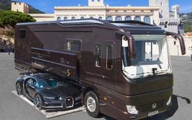 Thú chơi mobihome xa xỉ hết nấc của giới siêu giàu: Nội thất như căn hộ hạng sang, giấu nguyên chiếc Bugatti Chiron 3 triệu USD dưới gầm