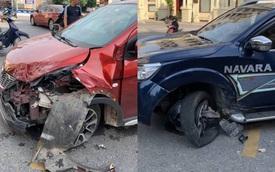 VinFast Fadil 'đối đầu' với Nissan Navara nhưng thiệt hại sau va chạm mới khiến CĐM ngỡ ngàng