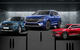 Hyundai Santa Fe 2021 lần đầu bán dưới 400 xe nhưng nhìn doanh số Toyota Fortuner còn thấy thảm hại hơn nhiều lần
