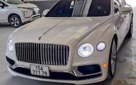 Đại gia Hải Phòng tậu Bentley Flying Spur V8 màu trắng độc nhất Việt Nam, sở hữu biển số tứ quý kết hợp thần tài lớn