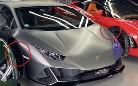 Lamborghini Huracan EVO độc nhất Việt Nam lọt thỏm giữa dàn siêu xe trăm tỷ, cách đỗ xe cũng gây chú ý