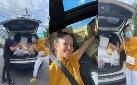 Hoa hậu H'Hen Niê xuống tay chăm sóc Ford Explorer sau những ngày tháng bị 'bóc lột' với cả tấn hàng hoá