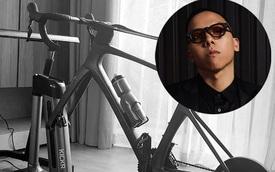 'Phù thủy âm nhạc' Hoàng Touliver 'khoe' tập thể dục bằng xe đạp không bánh, tìm hiểu mới biết là hàng hiệu từ 'xứ cờ hoa'