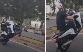 Thanh niên Vũng Tàu ngậm quả đắng với cú bốc đầu xe trị giá 10 triệu đồng