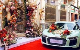 """Lộ danh tính cô dâu nhan sắc """"sánh ngang hàng"""" Hoa hậu cùng dàn siêu xe trong ngày cưới"""