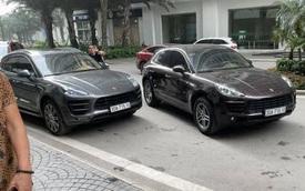 Hai xế sang Porsche trùng biển số trong khu đô thị Times City