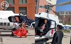 Dùng trực thăng đón dâu, chú rể gây tranh cãi vì quãng đường di chuyển