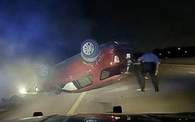 Người phụ nữ va chạm với cảnh sát khiến ô tô bị lật ngược, 7 tháng sau thì điều kỳ diệu xảy ra