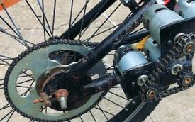 Chuyện xe cộ: Thanh niên 'độ' xe đạp điện từ động cơ ô tô đồ chơi khiến dân mạng nước ngoài 'mắt tròn mắt dẹt'