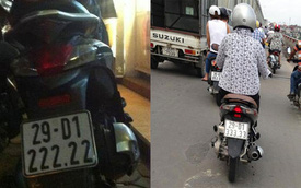 4 chiếc xe máy biển ngũ quý trên đường phố Hà Nội