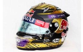 Mũ bảo hiểm vàng của Vettel lập kỷ lục đấu giá
