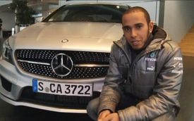 Sau vô-lăng Mercedes-Benz CLA250 cùng Lewis Hamilton