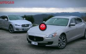 Maserati Quattroporte đọ với Jaguar XJ: Cuộc đụng độ Ý-Anh