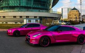 Bộ đôi Nissan GT-R và Maserati Quattroporte mạ crom màu hồng