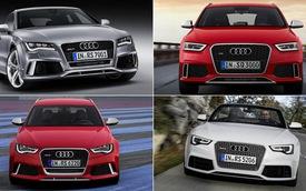 Sẽ có bốn biến thể Audi RS trình làng trong năm nay