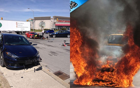 """Hai siêu xe Ferrari """"rủ nhau"""" lâm nạn"""