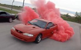 Video: SN 95 Mustang đốt lốp tóe khói đỏ