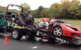 Ferrari 360 Modena cháy rừng rực tại Thủ đô nước Mỹ