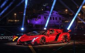Lamborghini Veneno Roadster ra mắt trên... hàng không mẫu hạm