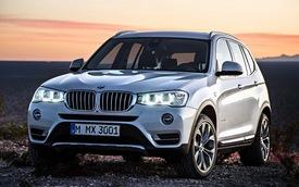 """BMW X3 2015: Diện mạo mới """"điển trai"""" hơn"""