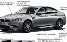 """BMW M5 phiên bản """"sinh nhật"""" có công suất 600 mã lực"""