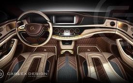 Mercedes-Benz S-Class với nội thất mạ vàng