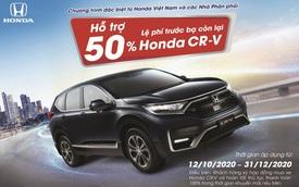 Honda CR-V được hỗ trợ 50% lệ phí trước bạ còn lại