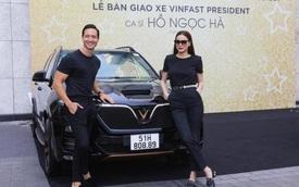 Hà Hồ, Kim Lý mua VinFast President, là sao Việt đầu tiên dùng trọn bộ 4 xe VinFast