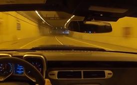 Chevrolet Camaro ZL1 gầm rú trong đường hầm