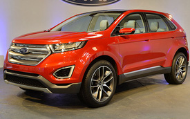 Ford Edge Concept sẽ có phiên bản sản xuất hiện đại và an toàn hơn