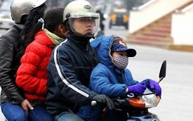 Lưu ý khi chở trẻ ra đường vào mùa rét