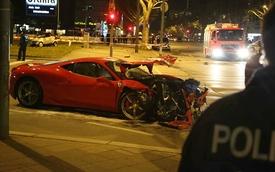 Ferrari 458 Speciale nát đầu vì đụng phải Smart ForTwo