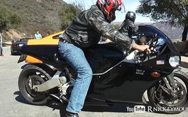 Siêu môtô trang bị động cơ phản lực phát ra âm thanh như thế nào?