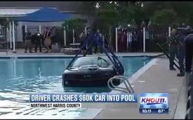 Chevrolet Camaro ZL1 chìm nghỉm dưới bể bơi