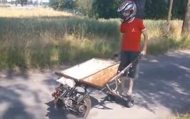 Xe rùa gắn động cơ chạy nhanh như xe đua