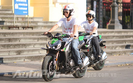 """Kawasaki Z1000 và dàn môtô khủng """"rồng rắn"""" đi rước dâu"""