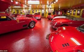 Ngỡ ngàng trước garage đỏ rực toàn siêu xe Ferrari