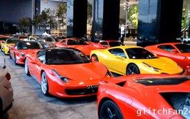 """Video: Hàng chục siêu xe Ferrari """"đàn đúm"""" tại Singapore"""