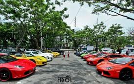 Dàn siêu xe đầy màu sắc tập hợp tại Indonesia