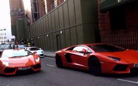 11 chiếc Lamborghini Aventador dạo phố London chỉ trong 2 tiếng