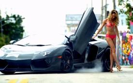 Cận cảnh Lamborghini Aventador trong quảng cáo của Victoria's Secret